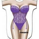 Purple Lingerie Cover Up Sexy Body T Shirt Night Shirt