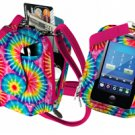 PURSE PLUS TOUCH CHARM14 CELL PHONE CASE Rainbow Tie Dye Touch-Screen Free Ship
