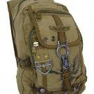Canvas Backpack OliveEagle Design  Rusksacks Daypack School Bag Multipurpose New