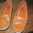Sebago Shoes Womens Moccasin Shoes B66597 Felucca Lace Brown Soft Leather Sz 6.5