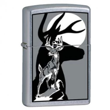 ZIPPO Deer With Shadow  Lighter 851307 Exclusive New Hunting Deer  Free Ship New