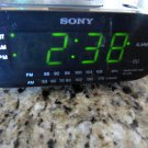 Sony Dream Machine Radio Alarm Clock Model ICF-C218 Black AM/FM Auto Time Set