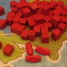 RISK Wooden Army Game Pieces Red Color Cubes Crafts Jewelry Wood Parts VTG