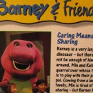 Barney & Friends  Caring Means Sharing VHS TIme Life Video Educational 1992 Kids