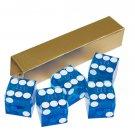 NEW Precision Casino Razor Edge CRAPS DICE Set 5 BLUE