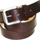 "Men's BROWN Leather Belt  1 1/2"" Wide Roller Buckle Free Shipping Small-3XL Size"
