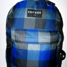 Backpack  School Pack Bag  Blue Plaid Hiking Camp Camping Free Shipping New