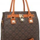 Brown Handbag Purse Bag Shoulder Messenger Bag Faux Leather Tote Fashion Classic