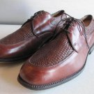 ALLEN EDMONDS Norfolk  Brown Woven Leather  Dress Shoes Size  9.5 D Lace Up USA