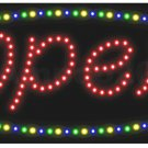 LED OPEN Deco Sign Light New Window Store Animated 05