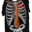 Skeleton T Shirt 2XL Skull Necktie Black Widow Spider Web Cross Bones XXL Cotton