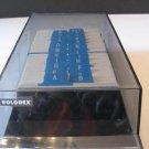Vtg Rolodex Card Holder VIP 24C Blank Cards A to Z Cards Black Smoke Plastic