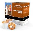 Donut House Blend 160 K-Cups  Coffee Keurig  Free Ship Light Blend Arabica Packs