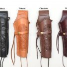 "Tooled Leather Holster  For 8"" Barrels Pistol  Handgun .38 & .45 Caliber Western"