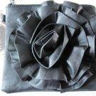 Myrtle Flower Cross-Body Mini Bag Handbag Black Floral Purse Shoulder Clutch New
