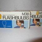 GE Camera Flashbulbs M3B 12 in Box -2 Boxes 24 Bulbs Flash Photography Vintage