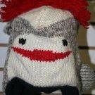 Sock Monkey Hat Wool Adult Ski Cap Lined Warm