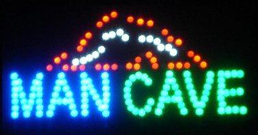 MAN CAVE Motion LED Sign 19 X 10 Hanging Kit Man Cave Display Light ManCave Bar