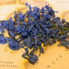 BLUE Set Military Unit Army Pieces 2003 Edition of RISK Board Game Parts