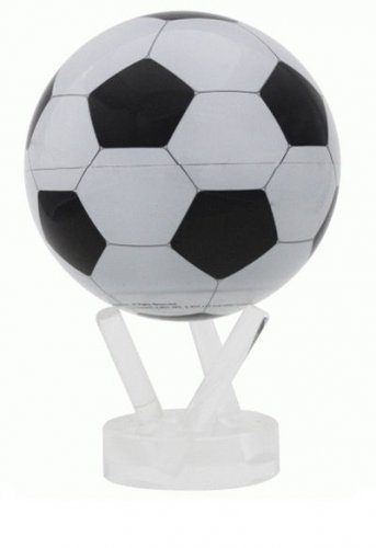 "MOVA Soccer Ball Rotating Motion Ball Globe 4.5"" Spinning Sports w Acrylic Stand"