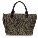 Black Brown Zebra Straw Shopper Beach Gym Tote Bag  Handbag  Purse Big Large New