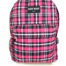 Backpack  School Pack Bag   Plaid Hiking Camp Camping Free Shipping New