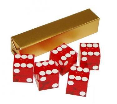 NEW Precision Casino Razor Edge CRAPS DICE Set 5 RED