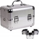 SILVER DOT Professional Beauty Case 2-Tiers Expandable Trays Cosmetic Nail  New