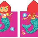 Mermaid Hooded Beach Towel Kids Bath Costume Cotton Pool Cover Up Robe Fun New