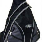 Messenger Sling Body Bag Backpack BLACK School Day Cross Shoulder Carry On Pack