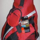 Messenger Sling Body Bag Backpack RED School Day Shoulder Pack Carry On Airplane
