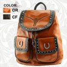 Montana West Western Cowgirl Studded Bling Backpack TEXAS PRIDE STEER Horseshoe