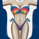 Tie-Dye Bikini Beach Cover Up Sexy Body T Shirt Night pool sleep Tee