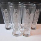6 BECK'S Beer Glasses New In Box 6 Pack NOS .4L Tall Bar Pilsner Pub Barware
