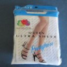 Panty Hose Fruit of the Loom Queen Ultra Sheer White Size D 3X-4X New Old Stock