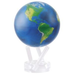 "MOVA Globe Satellite Natural Earth Map Rotating Spinning Motion 6"" World Large"