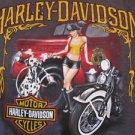 Harley Davidson Motor Cycles Las Vegas Nevada Ladies Double Sided T Shirt Small