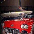 General Motors 1958 Corvette WWII Airplane Lamp In A Box Silver Sport Base Auto