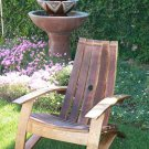 Wine Barrel Stave Adirondack Chair Recycled Wood Oak Free Shipping Handcrafted