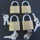 Master Lock V Line 4140KA Brass Padlocks Set Of 4 Keyed Alike Quantity of 4 NIB
