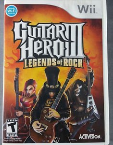 Guitar Hero III: Legends of Rock Nintendo Wii Video Game Activision Rock & Roll