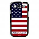 Jesus Saves Christian  Fits Galaxy S3 Case Protective Cover FREE SHIP Cell Phone