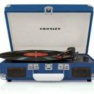 Crosley CR8005A-BL Cruiser 3 Speed Portable Turntable Record Player BLUE Vinyl