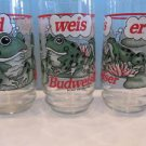 Budweiser Set Of 8 Frog 16oz Glasses In Original Box BUD WEIS ER ANHEUSER-BUSCH