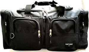 BLACK DUFFELBAG DUFFEL Gym BAG Medium Size Bags 22 Inch Carry On Sports Workout