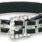 Rhinestone and Colored Gem Accented Adjustable Pet Collar Dog Cat Bling Med Larg