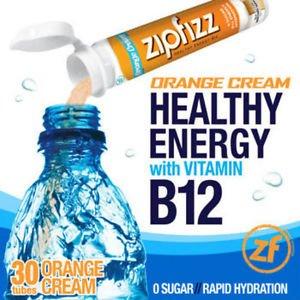 Zipfizz Orange Cream Healthy Energy Drink Mix 30 Tubes With B 12 No Sugar
