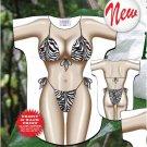 ZEBRA Bikini Beach Cover Up Sexy Body T Shirt Night sleep Animal Tee Free Ship