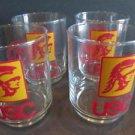 Set Of 4 USC University of Southern California Trojans Tumblers Cocktail Glasses