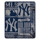 "NY Yankees Fleece Blanket 50"" x 60  Licensed Throw Soft Baseball New York"